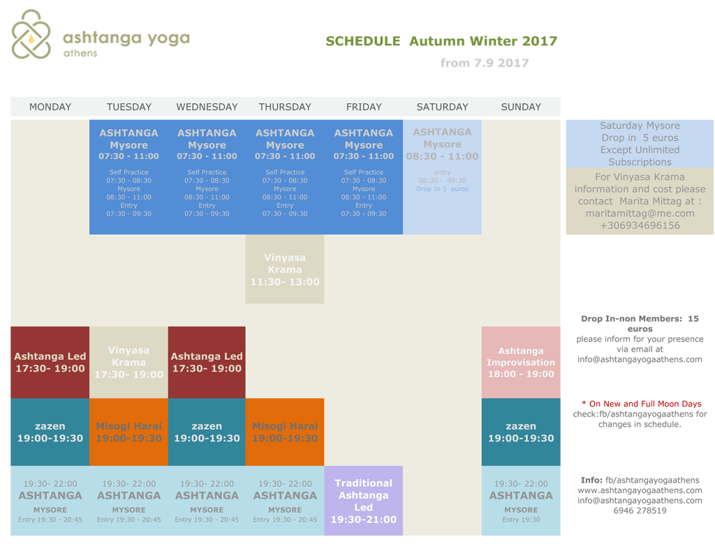 ashtanga yoga athens schedule winter 2017